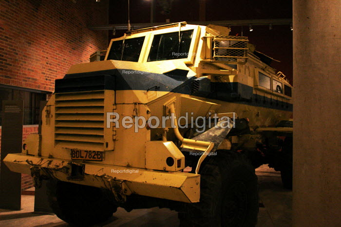 Armoured personnel carrier on display in the Apartheid Museum in Johannesburg, South Africa. - Gerry McCann - 2005-04-20