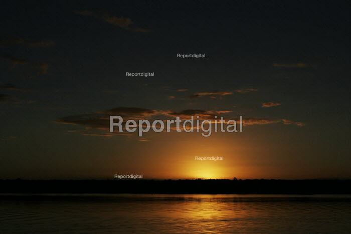 Sunset at iSimangaliso Wetland Park, on South Africas east coast (also called Elephant coast). - Gerry McCann - 2005-04-30
