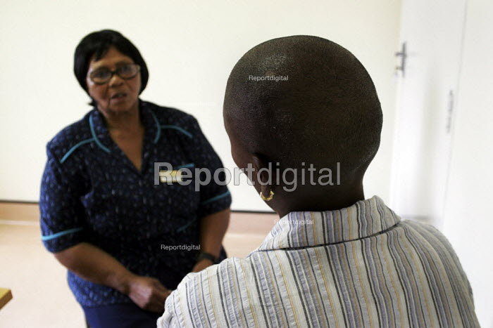 HIV/AIDS patients being provided with anti-retroviral drugs and confidential counselling, at St. Francis Care Centre in Boksburg, South Africa. - Gerry McCann - 2005-05-09