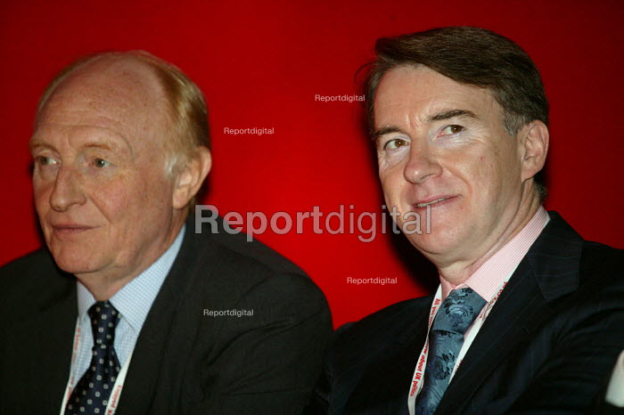 Neil Kinnock and Peter Mandelson, Labour Party Conference 2004 - John Harris - 2004-09-27