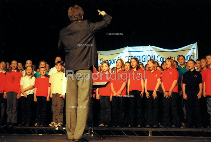 Credigion County School Choir singing, Wales Education Conference. - John Harris - 2002-05-23