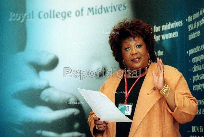 Dame Karlene Davis RCM speaking at CSP and RCM fringe meeting. Labour Party conference 2002 - John Harris - 2002-09-25
