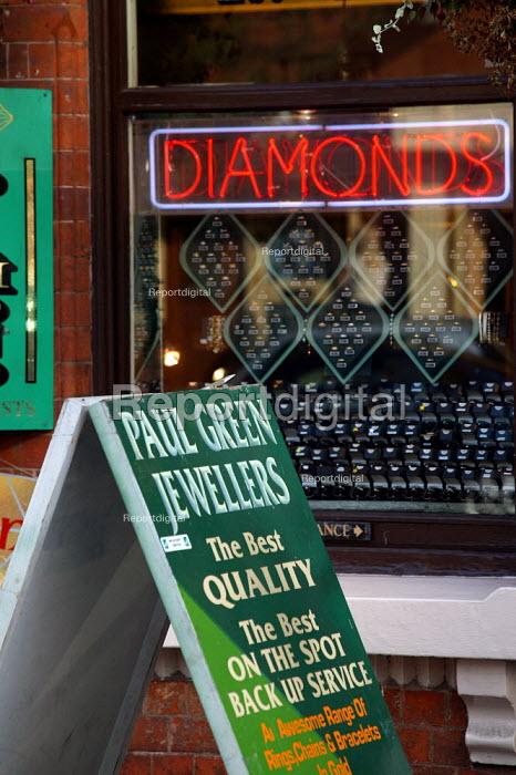 Jewellery shop in the Jewellery Quarter Birmingham. - John Harris - 2003-06-02