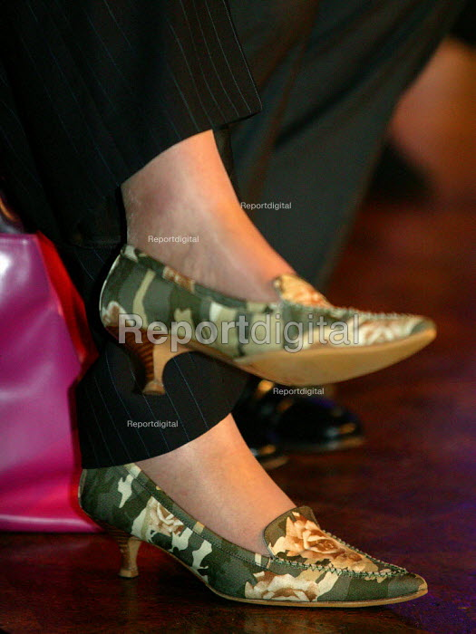 The shoes worn by Theresa May Conservative Party Conference 2003 - John Harris - 2003-10-09