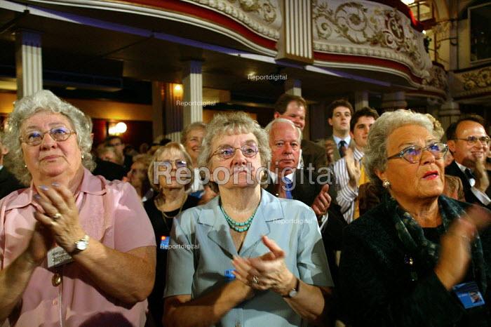 Elderly women applauding, Conservative Party Conference 2003 - John Harris - 2003-10-09