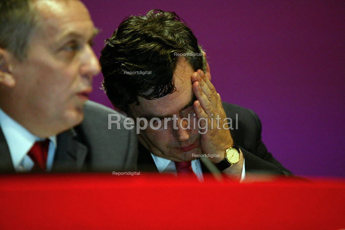 Gordon Brown MP speaking at Labour Party Conference 2003 - John Harris - 2003-09-29
