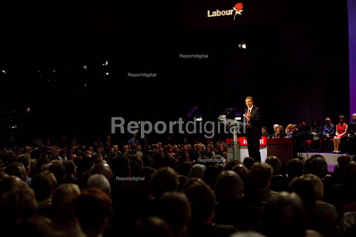 Tony Blair MP speaking at Labour Party Conference 2003 The leader's speech. - John Harris - 2003-09-30