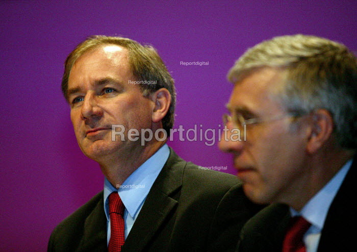 Geoff Hoon MP and Jack Straw, Labour Party conference 2003 - John Harris - 2003-10-01