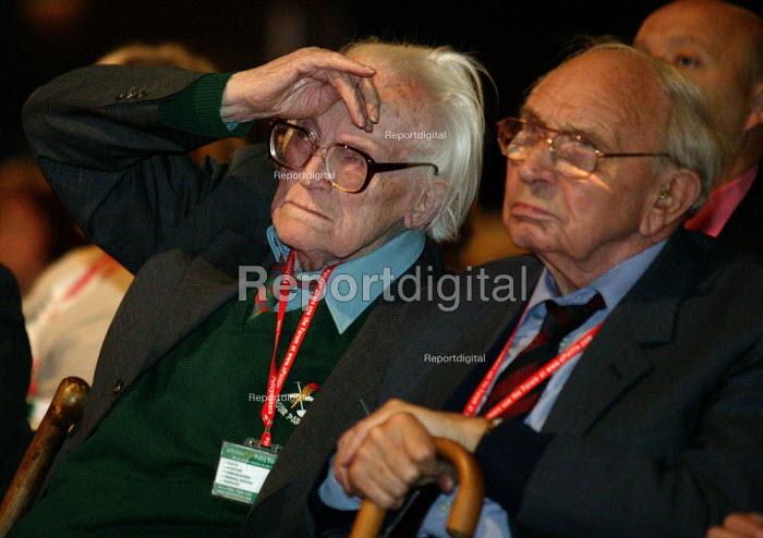 Michael Foot and Jack Jones TGWU Labour Party conference 2003 - John Harris - 2003-10-01