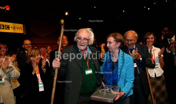 Michael Foot, Margaret Beckett MP and Jack Jones TGWU Labour Party conference 2003 - John Harris - 2003-10-01