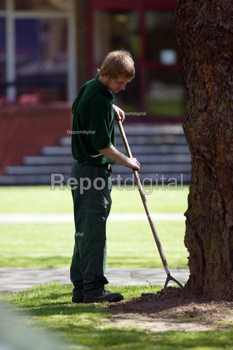 Gardener from Coventry Parks Services maintaining public park. - John Harris - 2006-05-05