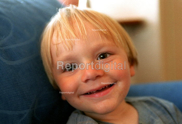 Emilio smiling at home aged 2 years old - John Harris - 2001-07-16