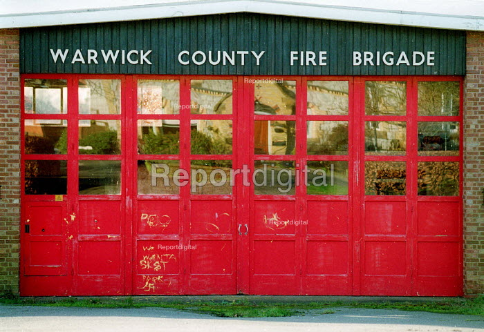 Closed rural Fire Station, Kinton village Warwickshire. - John Harris - 2003-02-03