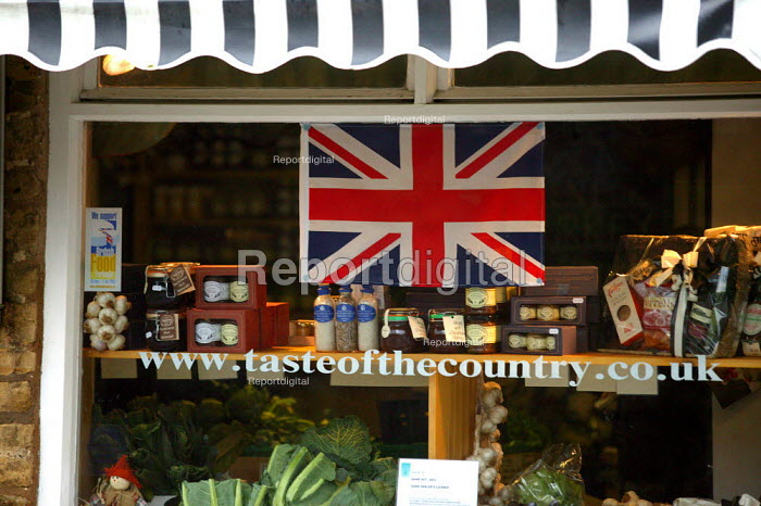 Taste of the Country local shop in a village in the Cotswalds. Produce is fresh and local. - John Harris - 2003-11-29