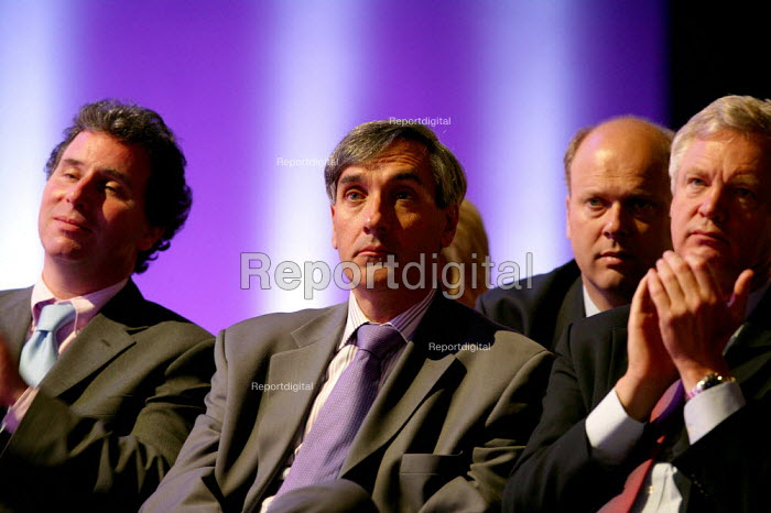 John Redwood MP listening to Michael Howard MP speaking at Conservative Party Conference 2004 - John Harris - 2004-10-05