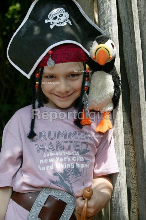 Small boy dressed up as Captain Jack Sparrow, pirate. - John Harris - 2006-07-01