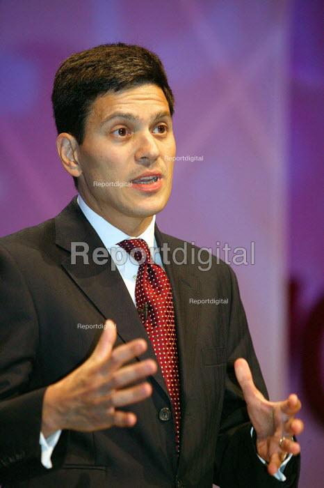 David Miliband MP Labour. TUC Congress 2006 - John Harris - 2006-09-11