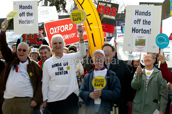 NHS Together protest in a national day of action in defence of the health service, Oxford - John Harris - 2007-03-03