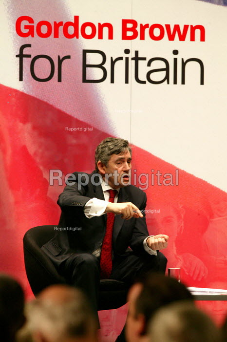 Gordon Brown speaking at the Labour leadership hustings - John Harris - 2007-05-21