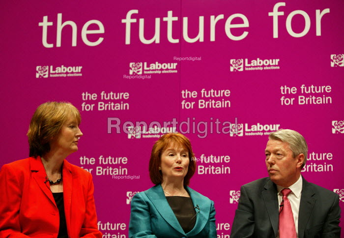 Deputy leadership candidates, Harriet Harman, Hazel Blears, Alan Johnson at the hustings. - John Harris - 2007-05-21