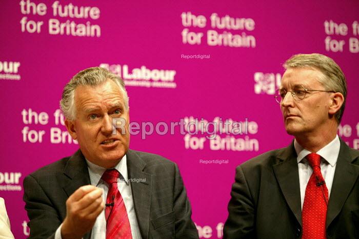 Deputy leadership candidates, Peter Hain and Hilary Benn at the hustings. - John Harris - 2007-05-21
