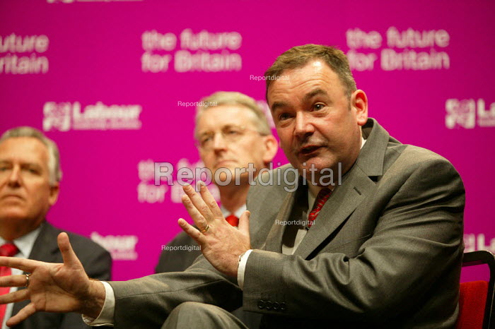 Deputy leadership candidates Peter Hain, Hilary Benn and Jon Cruddas at the hustings. - John Harris - 2007-05-21