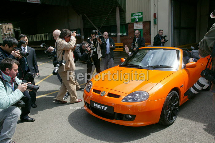 MG Rover Longbridge factory in Birmingham has been reopened by Chinas Nanjing Automobile Company, where parts made in China will be assembled. New MG TF sports cars were paraded about the site at a ceremony marking the official reopening - John Harris - 2007-05-29