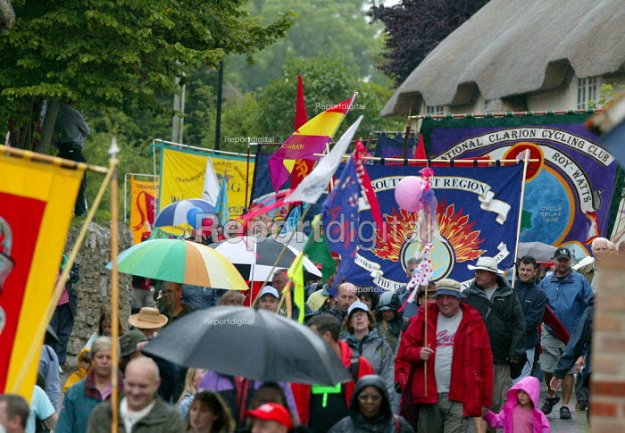FBU banners Tolpuddle Martyrs Festival, Dorset. - John Harris - 2007-07-15