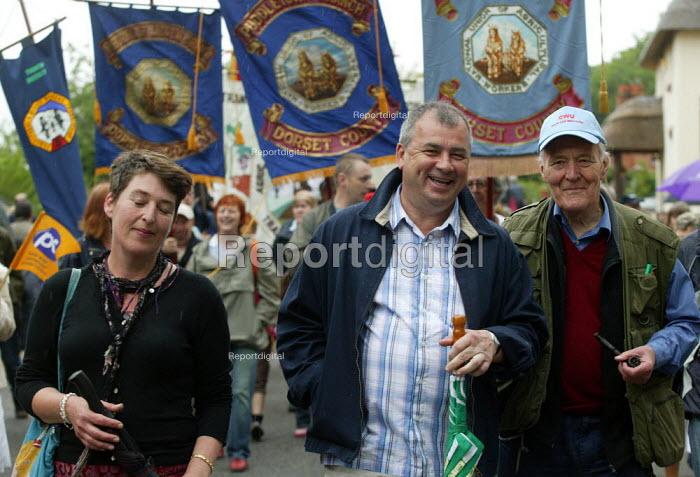 Brendan Barber TUC and Tony Benn, Tolpuddle Martyrs Festival, Dorset. - John Harris - 2007-07-15