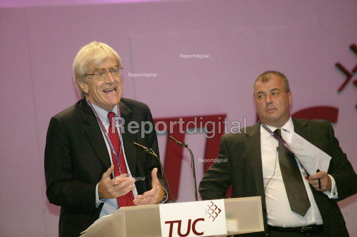 Richard Lambert CBI addressing TUC Conference 2007 with Brendan Barber - John Harris - 2007-09-11