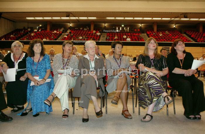 Women delegates waiting to speak during the equality debate, TUC Conference 2007 - John Harris - 2007-09-12
