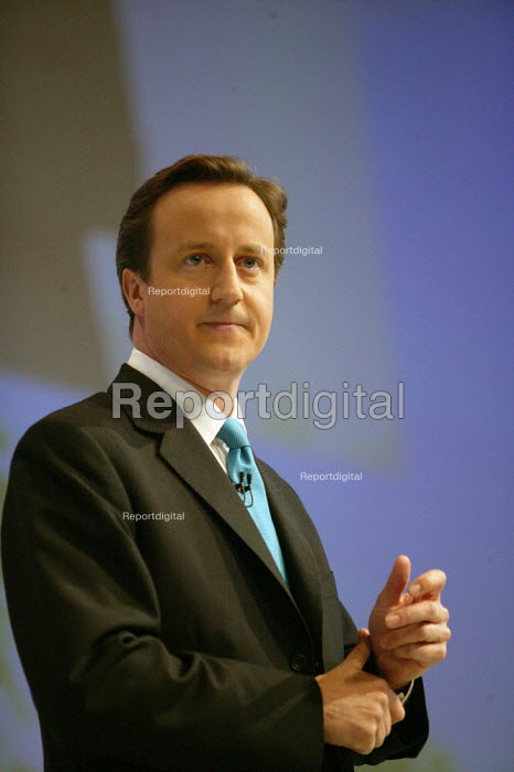 David Cameron addressing Conservative Party Conference Blackpool - John Harris - 2007-10-03