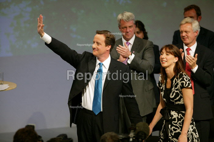 David Cameron and his wife Samantha after addressing Conservative Party Conference Blackpool - John Harris - 2007-10-03
