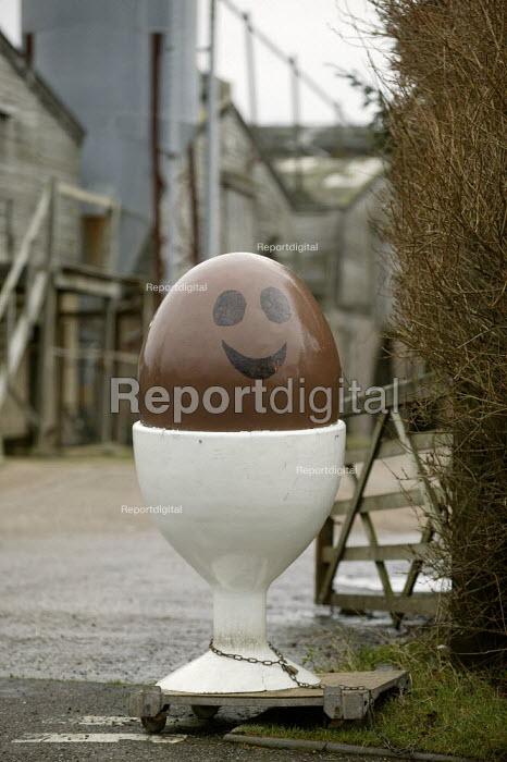 Egg advertisement, chicken farm, Warwickshire - John Harris - 2008-01-21