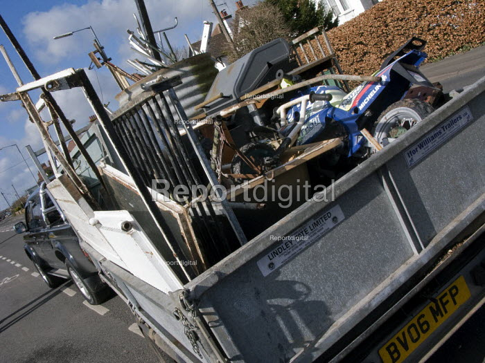 A trailer full of scrap metal being collected for recycling. - John Harris - 2008-02-20
