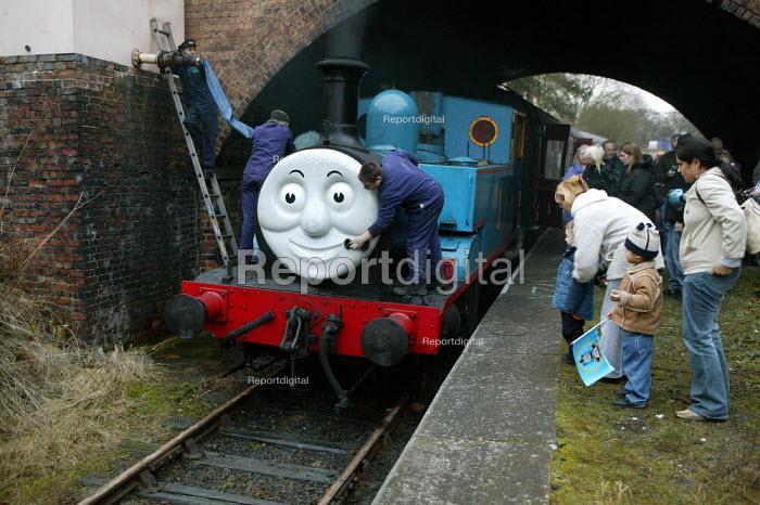 Thomas the tank engine, Telford Steam Railway, Madeley. - John Harris - 2004-12-12