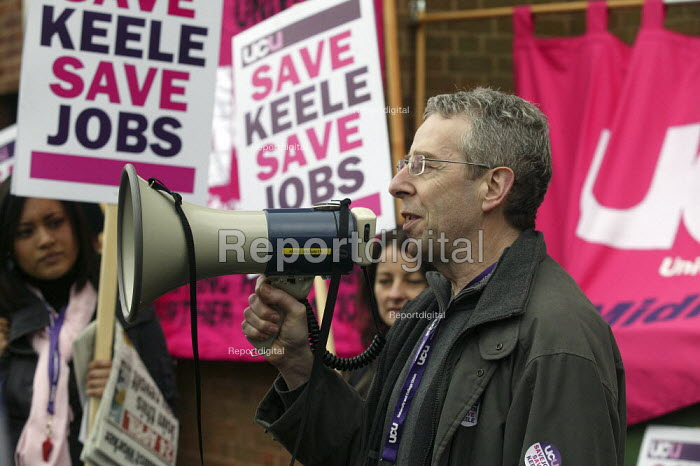 Lobby of the management council meeting. Keele university lecturers strike over cuts. Protest by UCU lecturers during their one day strike against job cuts and restructuring. Keele University. - John Harris - 2008-04-03