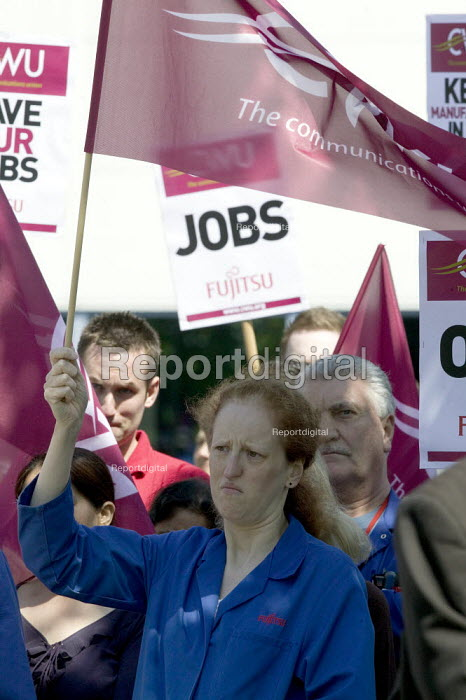 CWU protest at job losses, Fujitsu Solihull, Birmingham. - John Harris - 2008-05-14