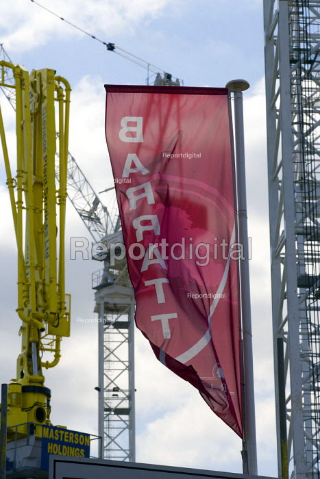Barratt Homes regeneration Dalston London. The construction of new apartments. - John Harris - 2008-07-21