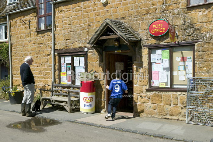 Village post office which is to be closed. Ilmington Warwickshire. - John Harris - 2008-07-05