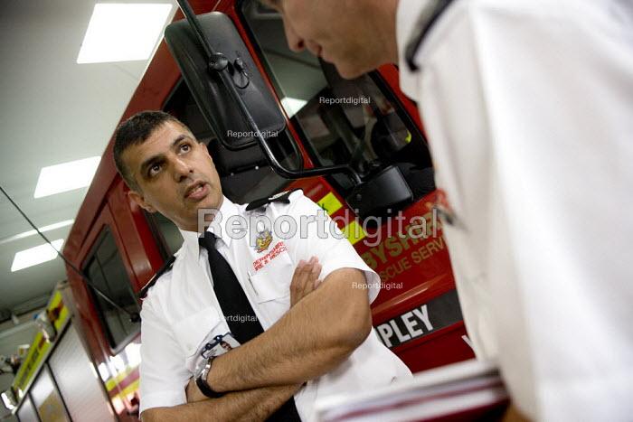 Kam Basi, Group Manager, Derbyshire FRS, Ripley fire station, Derbyshire - John Harris - 2008-07-08