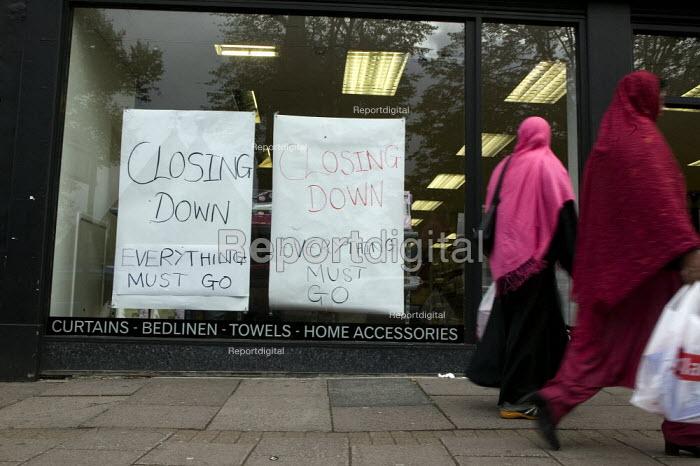 Closing down sale at a home furnishings shop in the High Street, Birmingham. - John Harris - 2008-09-29