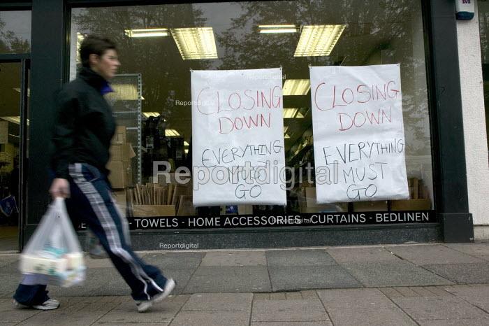 Closing down sale at a Rosebys home furnishings shop in the High Street, Birmingham. - John Harris - 2008-09-29