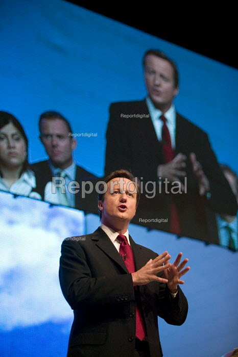 David Cameron speaking, Conservative Party Conference 2008 Birmingham. - John Harris - 2008-09-28