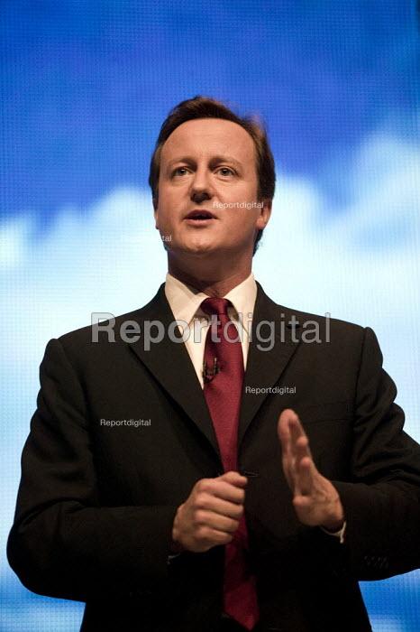 David Cameron speaking, Conservative Party Conference 2008 Birmingham. - John Harris - 2008-09-28