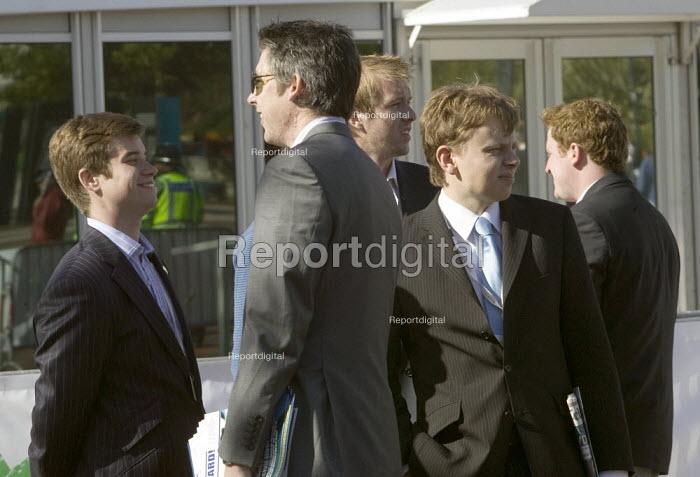 Delegates outside Conservative Party Conference 2008 Birmingham - John Harris - 2008-10-01