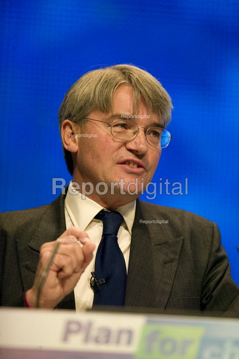 Andrew Mitchell MP speaking at the Conservative Party Conference 2008 Birmingham. - John Harris - 2008-10-01