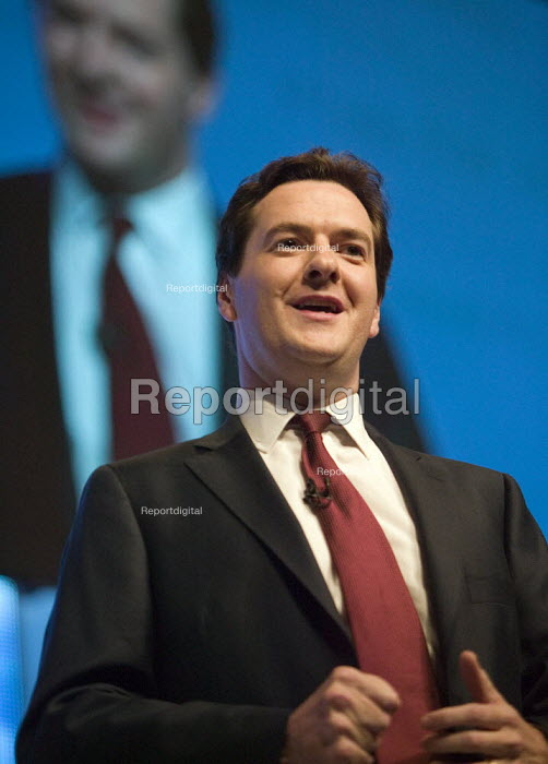 George Osborne speaking, Conservative Party Conference 2008 Birmingham. - John Harris - 2008-09-28