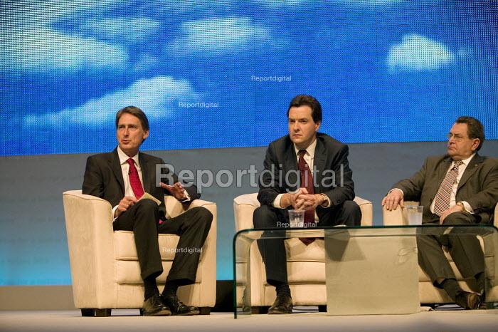 Philip Hammond and George Osborne  Conservative Party Conference 2008 Birmingham. - John Harris - 2008-09-28