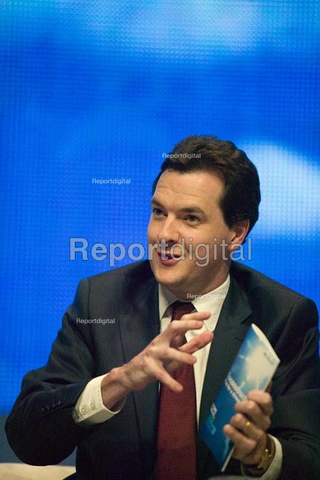 George Osborne speaking, Conservative Party Conference 2008 Birmingham. - John Harris - 2008-09-28